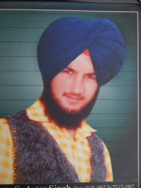 Photo of Avtar Singh, victim of extrajudicial execution on December 27, 1987, in Makhu, by Punjab Police