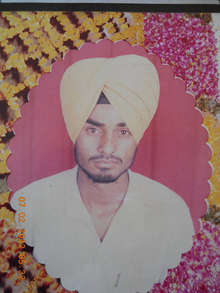 Photo of Gurprem Singh, victim of extrajudicial execution between May 1, 1990 and June 30,  1990, in Jagraon, by Punjab Police