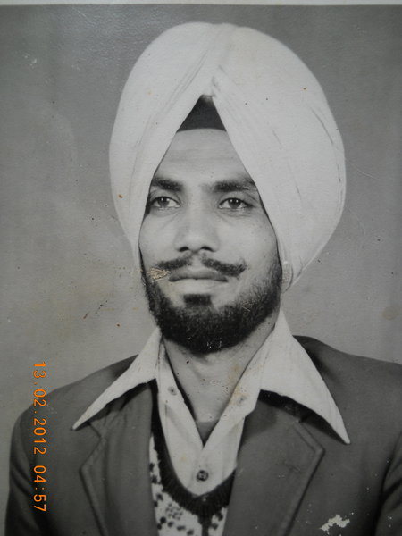 Photo of Gurbaksh Singh, victim of extrajudicial execution on September 2, 1988, in Rode Jallewala, by Punjab Police