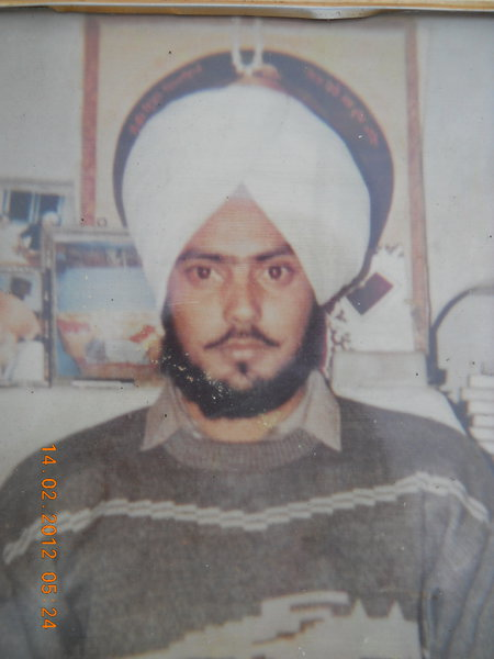 Photo of Amrik Singh, victim of extrajudicial execution on August 15, 1990, in Dharamkot, by Punjab Police