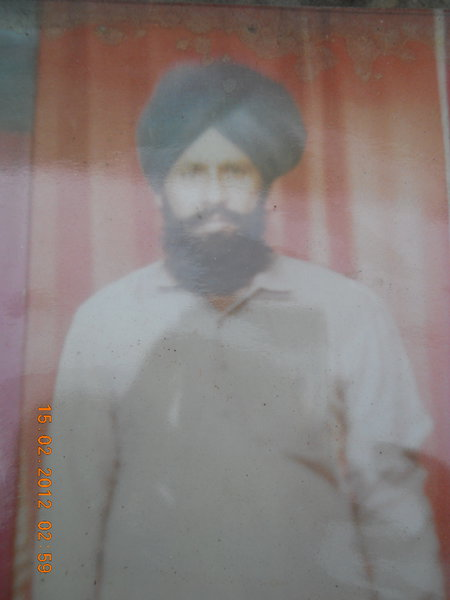 Photo of Malook Singh, victim of extrajudicial execution on September 15, 1993, in Zira, by Punjab Police