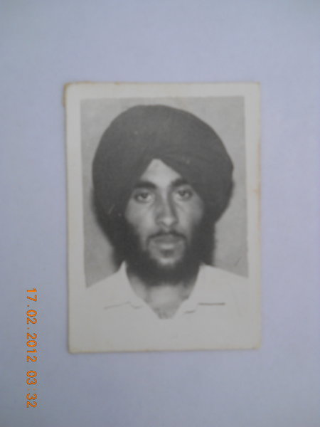 Photo of Baldev Singh, victim of extrajudicial execution on November 13, 1990Punjab Police