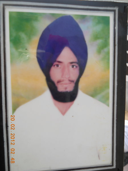 Photo of Sukhdev Singh, victim of extrajudicial execution between September 1, 1988 and January 1,  1989Punjab Police