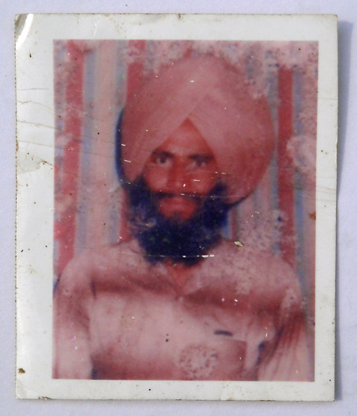 Photo of Gurdial Singh, victim of extrajudicial execution between November 1, 1988 and February 30,  1989Punjab Police