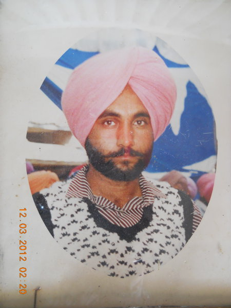 Photo of Balwant Singh, victim of extrajudicial execution on February 11, 1993, in Jagraon, by Punjab Police
