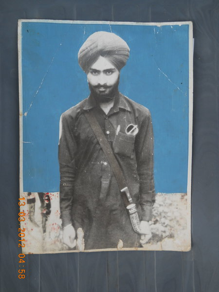 Photo of Jagdish Singh, victim of extrajudicial execution on September 23, 1987, in Zira, by Punjab Police