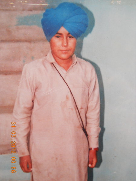 Photo of Jaswant Singh, victim of extrajudicial execution between February 1, 1984 and February 28,  1984Central Reserve Police Force; Army