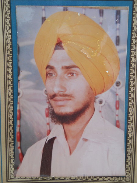 Photo of Sarbjeet Singh, victim of extrajudicial execution between December 15, 1987 and January 15,  1988, in Firozpur, by Punjab Police