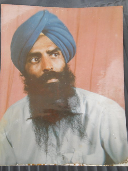 Photo of Mukhtiyar Singh, victim of extrajudicial execution on February 17, 1988, in Sultanwind, by Punjab Police; Border Security Force; Central Reserve Police Force