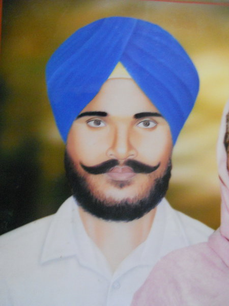 Photo of Gurdeep Singh, victim of extrajudicial execution on November 2, 1984, in Ghall Khurd, by Punjab Police