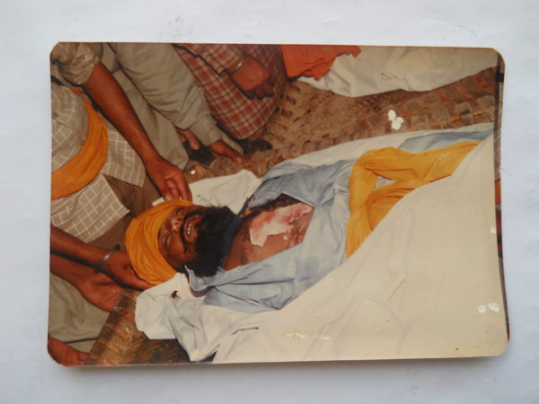 Photo of Rajbir Singh, victim of extrajudicial execution on May 3, 1987, in Mallanwala, by Punjab Police