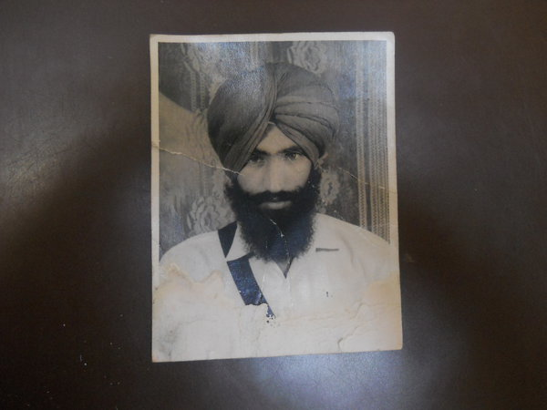 Photo of Jasbir Singh, victim of extrajudicial execution on May 24, 1989, in Firozpur,  by Punjab Police; Criminal Investigation Agency, in Firozpur, by Punjab Police; Criminal Investigation Agency