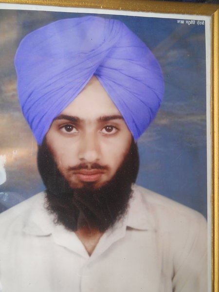 Photo of Sukhdev Singh, victim of extrajudicial execution on January 04, 1991, in Zira, by Punjab Police