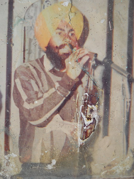 Photo of Lakhbir Singh, victim of extrajudicial execution on October 27, 1990, in Ghall Khurd, Talwandi Bhai, by Punjab Police; Central Reserve Police Force