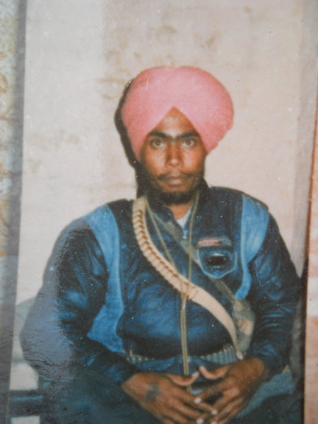 Photo of Balkar Singh, victim of extrajudicial execution on September 08, 1991, in Zira, Makhu, Dharamkot, by Punjab Police; Border Security Force; Central Reserve Police Force; Criminal Investigation Agency