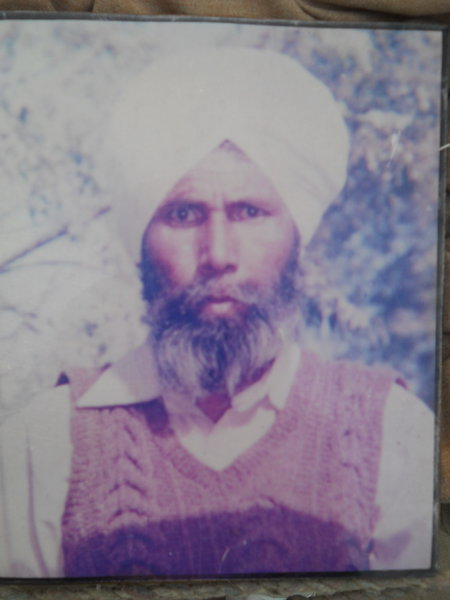 Photo of Kehar Singh, victim of extrajudicial execution on June 07, 1989Border Security Force