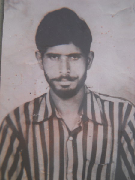 Photo of Karnail Singh, victim of extrajudicial execution between June 1, 1987 and June 2,  1987, in Kulwant BSF Post, Khemkaran,  by Border Security Force, in Kulwant BSF Post, Khemkaran, by Border Security Force