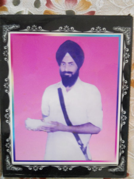 Photo of Bhajan Singh, victim of extrajudicial execution on June 05, 1990, in Firozpur, by Punjab Police; Border Security Force; Central Reserve Police Force