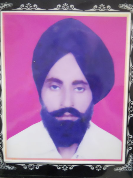 Photo of Laal Singh, victim of extrajudicial execution on June 05, 1990, in Firozpur, by Punjab Police; Border Security Force; Central Reserve Police Force