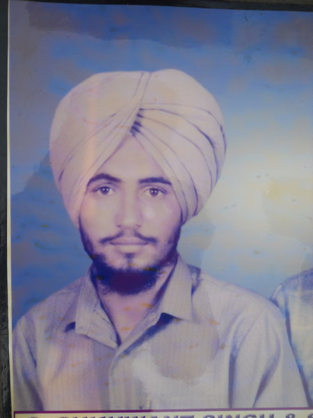 Photo of Sukhwant Singh, victim of extrajudicial execution on March 04, 1991, in Firozpur, Mamdot, by Punjab Police; Border Security Force; Central Reserve Police Force; Criminal Investigation Agency