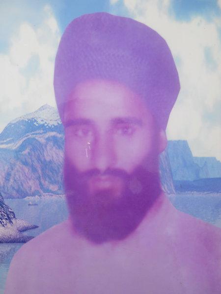 Photo of Prem Singh, victim of extrajudicial execution on September 09, 1989, in Firozpur, Mamdot, Sadiq, Faridkot, by Punjab Police; Central Reserve Police Force; Black cat