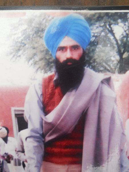 Photo of Karaj Singh, victim of extrajudicial execution on April 24, 1991, in Jalandhar, Phillaur,  by Punjab Police; Central Reserve Police Force, in Jalandhar, Phillaur, by Punjab Police