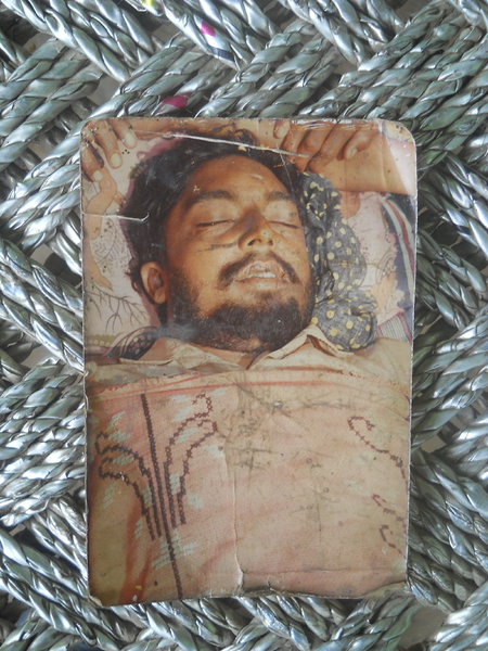 Photo of Beera Singh, victim of extrajudicial execution on November 24, 1991, in Makhu,  by Punjab Police; Black cat, in Makhu, by Punjab Police; Black cat