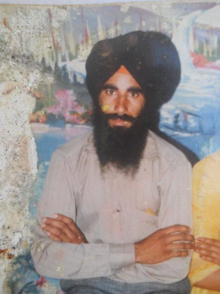 Photo of Balveer Singh, victim of extrajudicial execution on October 20, 1989, in Tarn Taran, Harike, by Punjab Police