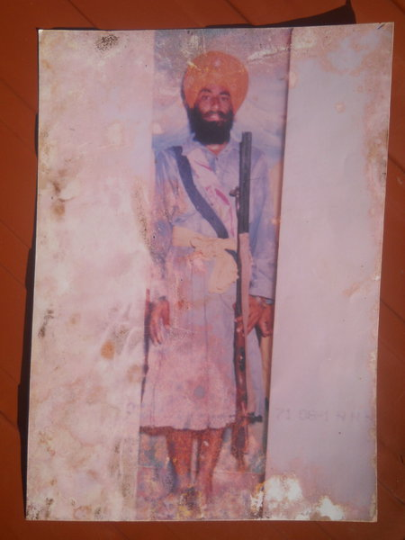 Photo of Resham Singh, victim of extrajudicial execution between March 1, 1989 and March 31,  1989, in Patti, by Punjab Police