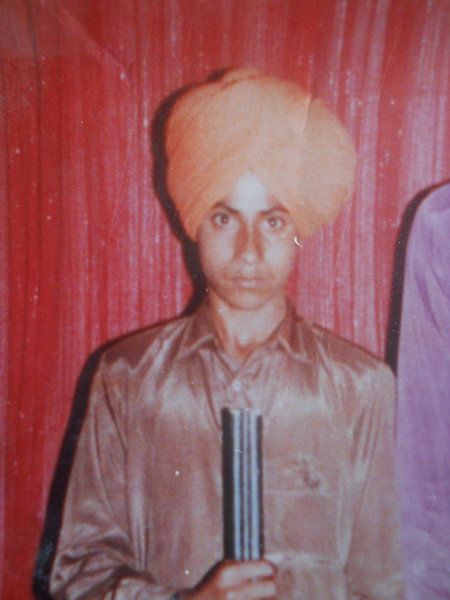 Photo of Joginder Singh, victim of extrajudicial execution on February 06, 1991, in Dharamkot, by Punjab Police