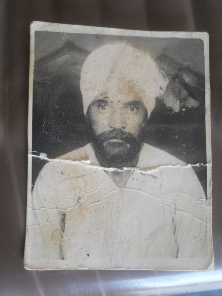 Photo of Jameet Singh, victim of extrajudicial execution on June 20, 1991, in Makhu, Zira, by Punjab Police; Criminal Investigation Agency