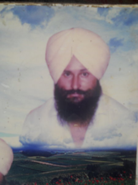 Photo of Resham Singh, victim of extrajudicial execution on October 29, 1989, in Tarn Taran, Patti, Valtoha, by Punjab Police