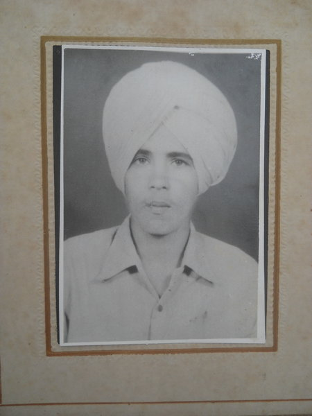 Photo of Pargat Singh, victim of extrajudicial execution on July 11, 1989, in Khalra, Bhikhiwind, by Punjab Police; Central Reserve Police Force