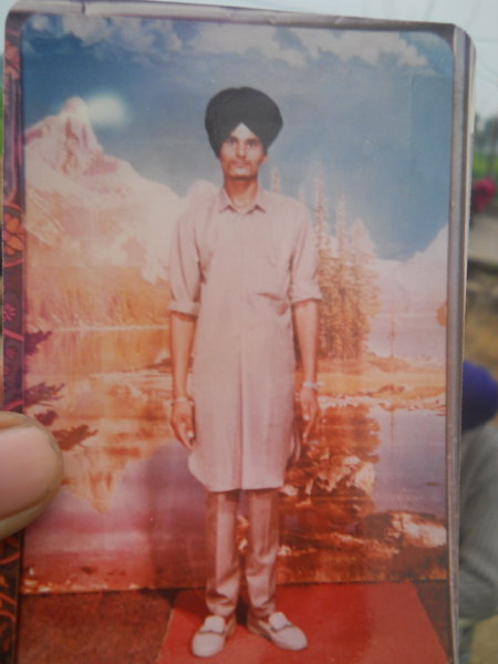 Photo of Bikkar Singh, victim of extrajudicial execution between March 1, 1992 and March 31,  1993, in Makhu, by Punjab Police