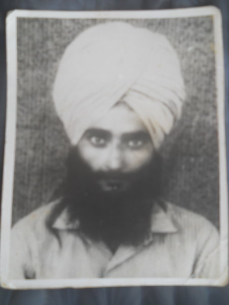 Photo of Tarlochan Singh, victim of extrajudicial execution between December 28, 1988 and December 29,  1988, in Shahkot, by Punjab Police