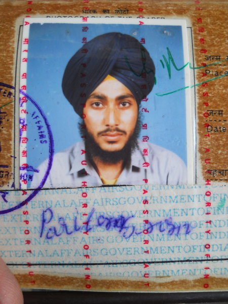 Photo of Pritam Singh, victim of extrajudicial execution between June 1, 1990 and December 1,  1990, in Kapurthala, by Punjab Police