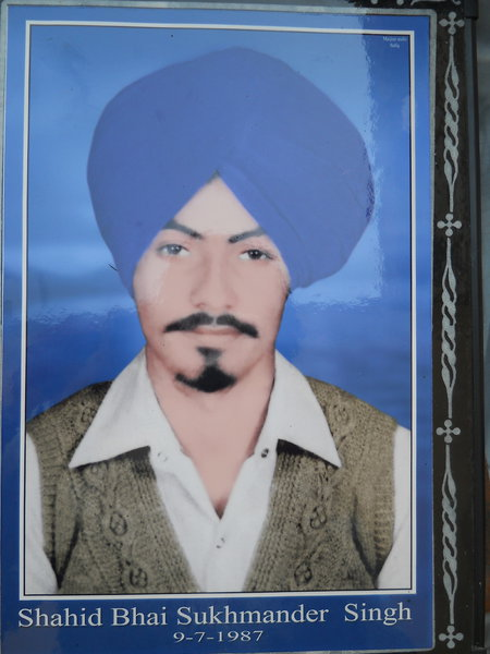 Photo of Sukhmandar Singh, victim of extrajudicial execution on July 7, 1987, in Bhagha Purana, by Punjab Police