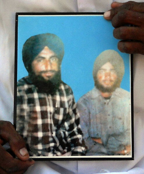 Photo of Beant Singh, victim of extrajudicial execution between April 14, 1987 and May 30,  1987, in Moga,  by Criminal Investigation Agency, in Baghewala, by Punjab Police