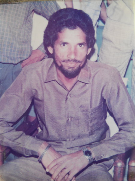 Photo of Kuldeep Singh, victim of extrajudicial execution on October 05, 1989, in Valtoha, by Punjab Police