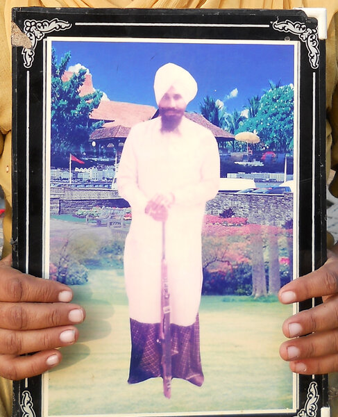 Photo of Jagroop Singh, victim of extrajudicial execution on October 09, 1993, in Firozpur, by Punjab Police