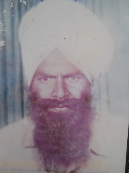 Photo of Mukhtiar Singh, victim of extrajudicial execution on March 5, 1991 by Punjab Police; Central Reserve Police ForcePunjab Police; Central Reserve Police Force
