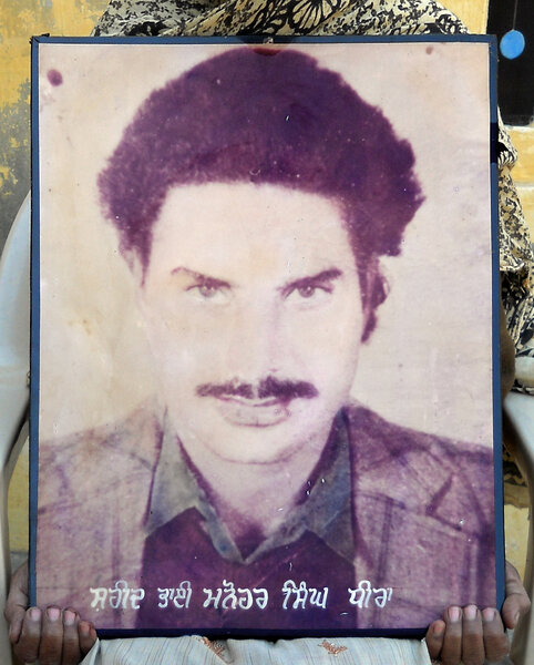 Photo of Manohar Singh, victim of extrajudicial execution between July 27, 1991 and July 29,  1991Punjab Police