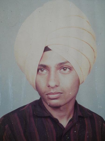 Photo of Jaskaran Singh, victim of extrajudicial execution on April 07, 1991, in Bhagha Purana, by Punjab Police