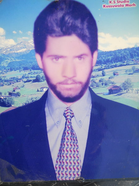 Photo of Malkeet Singh,  disappeared on May 22, 1991, in Makhu,  by Punjab Police
