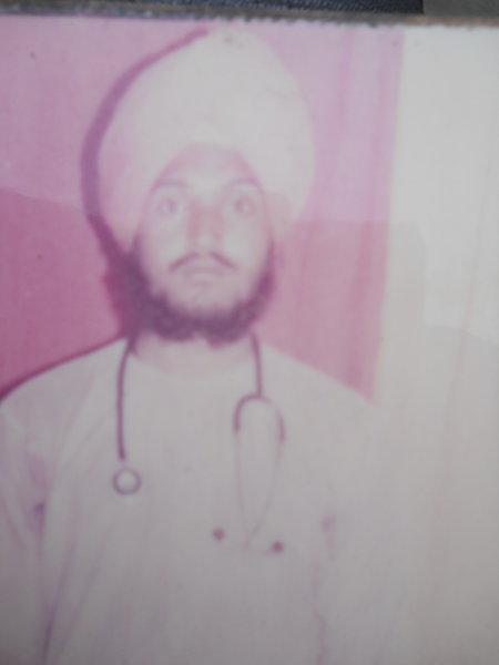 Photo of Subheg Singh, victim of extrajudicial execution on November 23, 1991, in Harike, by Punjab Police