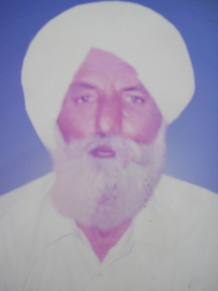 Photo of Pritam Singh, victim of extrajudicial execution on November 19, 1989Border Security Force