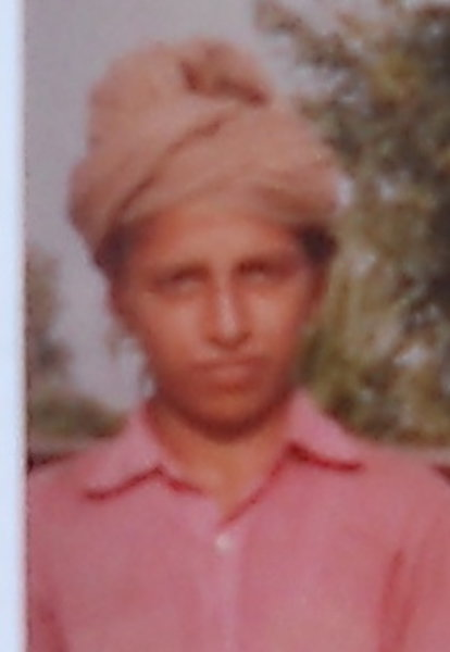 Photo of Palwinder Singh, victim of extrajudicial execution on June 11, 1990, in Makhu, by Punjab Police; Central Reserve Police Force