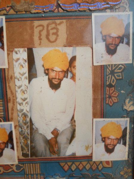 Photo of Balvir Singh, victim of extrajudicial execution between September 15, 1991 and September 30,  1991, in Zira, by Punjab Police