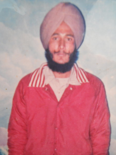 Photo of Bhag Singh, victim of extrajudicial execution on April 23, 1987, in Moga, by Punjab Police