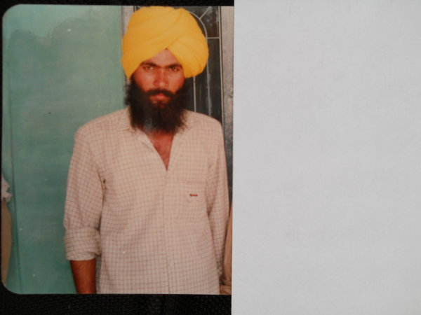 Photo of Shuwinder Singh, victim of extrajudicial execution between January 1, 1994 and January 30,  1994, in Zira, by Punjab Police